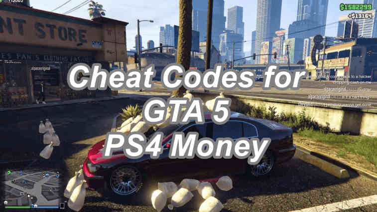 Cheat Codes for GTA 5 PS4 Money