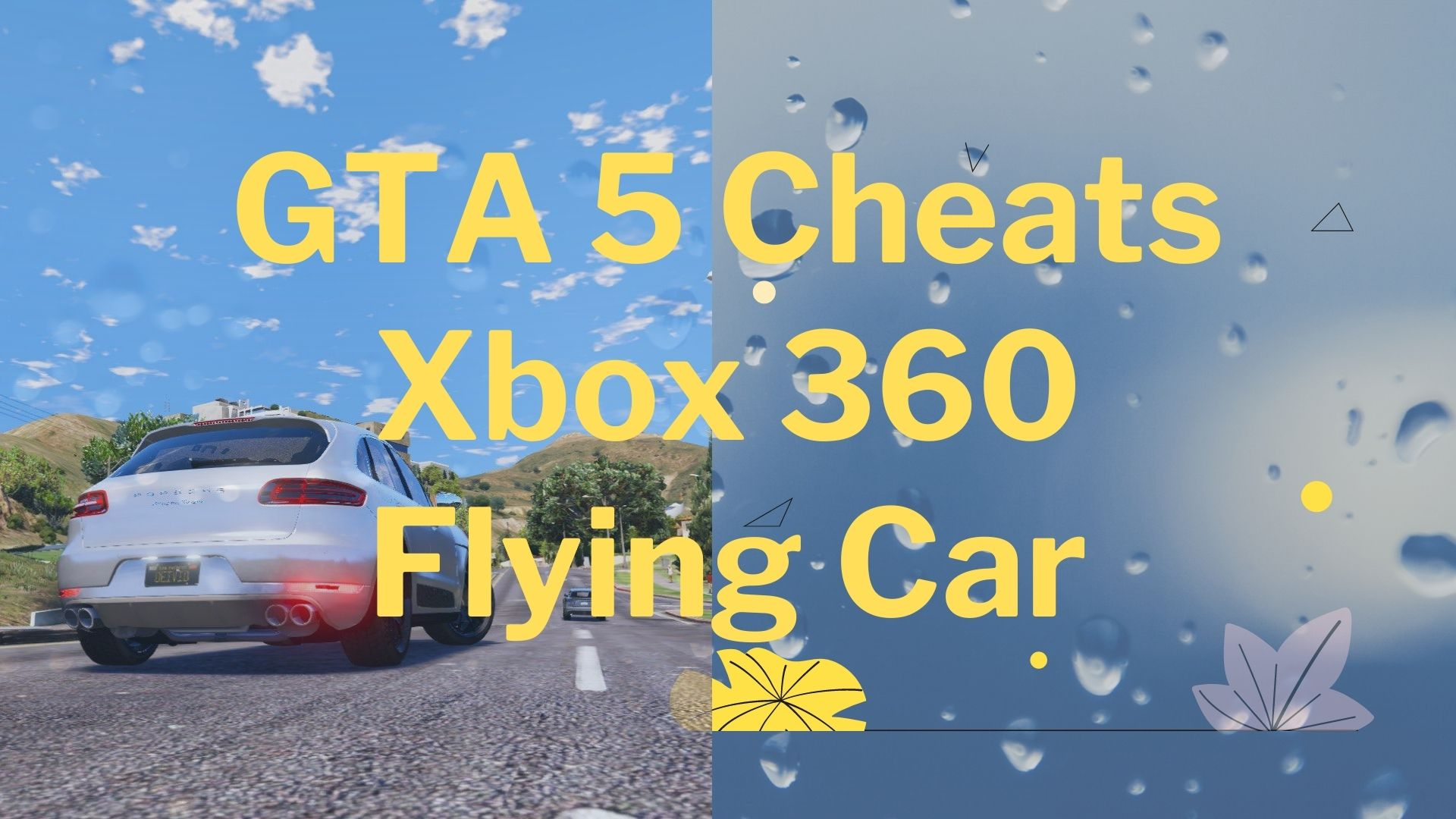 GTA 5 Cheats Xbox 360 Flying Car