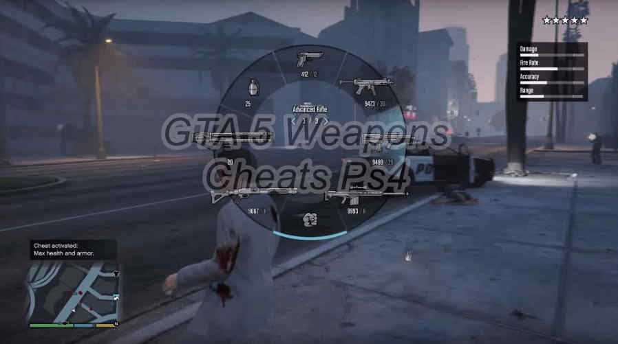 Weapons Cheat GTA 5 PS4